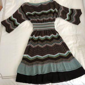 M Missoni Geometric Pattern Knit Dress